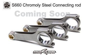 <新製品>S660クロモリ鍛造コネクテイングロッド近日発売。